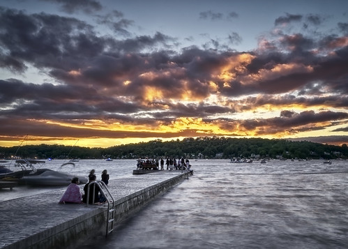 4thofjuly lakehopatcong mtarlington newjersey pier sunset beachbash boats clouds colorful couple evening golden horizon independenceday lake landscape nature outdoors party peace people red reflection relax sky sun travel water usa