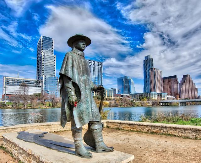 Stevie Ray Vaughan Statue, Austin TX
