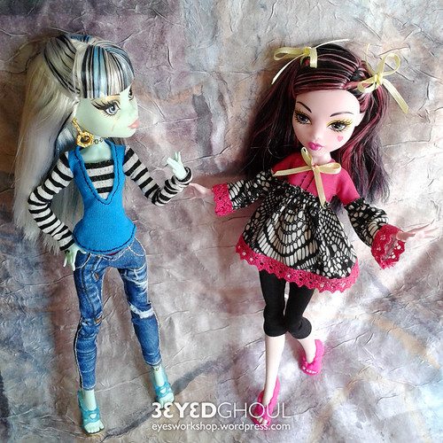 Clothes for Frankie and Draculaura | by threeeyedghoul