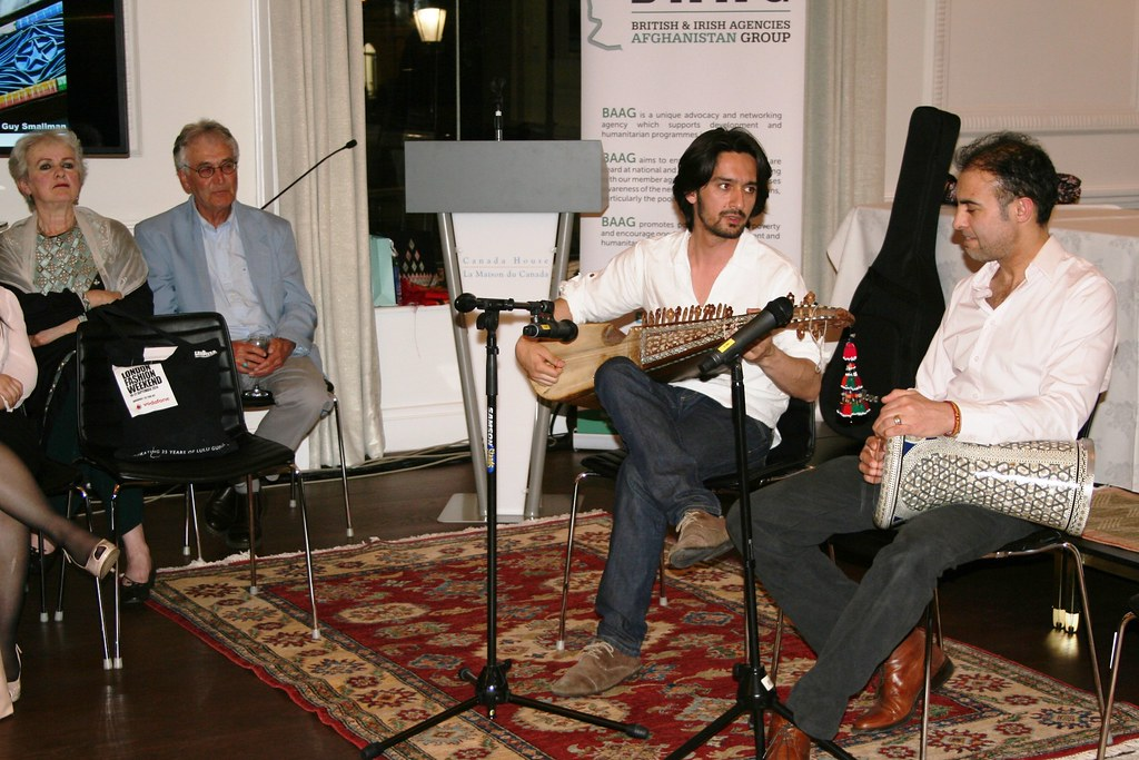 Milad Yousofi and partner play traditional Afghan music, w