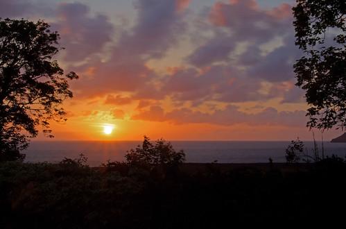 sea clouds sunrise dawn somerset sunrises porlockweir