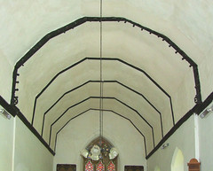 cusping on canopy to the rood loft
