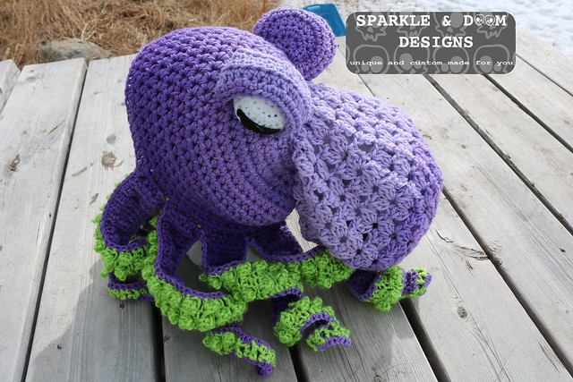31f70990ff7 HAT Octopus Hat Purple lime b