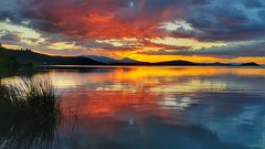 Klamath Lake Sunset Reflected