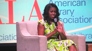 Michelle Obama and Carla Hayden at ALA | by terryballard