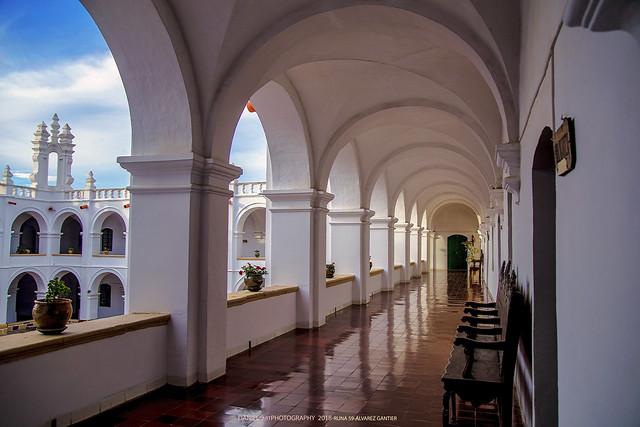 Pasillo del convento de San Felipe Neri