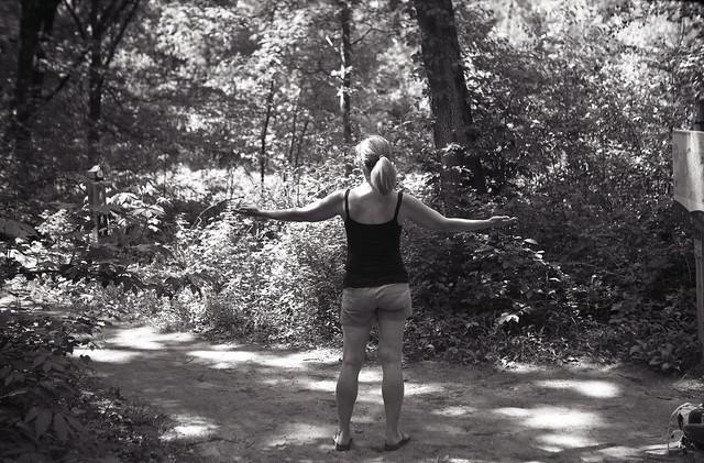 Britney catching dragonflies