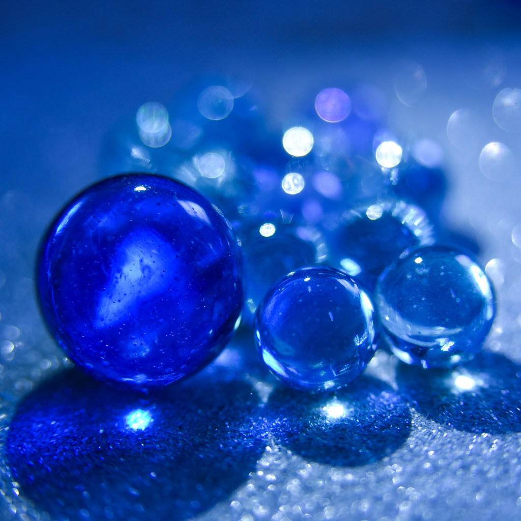 086/365: Blue Marbles