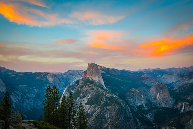 Yosemite National Park Half Dome Glacier Point High Res McGucken Fine Art Photography Sunset!  American West! Nikon D810 & 28-300mm Nikkor Zoom Lens! John Muir Scenic Vista View! Nevada Falls & Vernal Falls! Epic California Yosemite NP Landscape!
