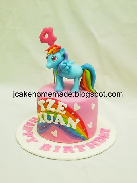 Rainbow Dash Pony birthday cake彩虹小马蛋糕