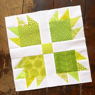 Bears Paw. April block for Sibling Together Quilt Bee 2.
