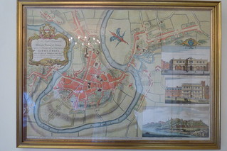 A plan and map of Shrewsbury and river Severn, by John Roque, Chawton House and gardens