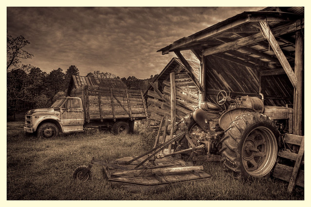 Fred Glass's truck and tractor