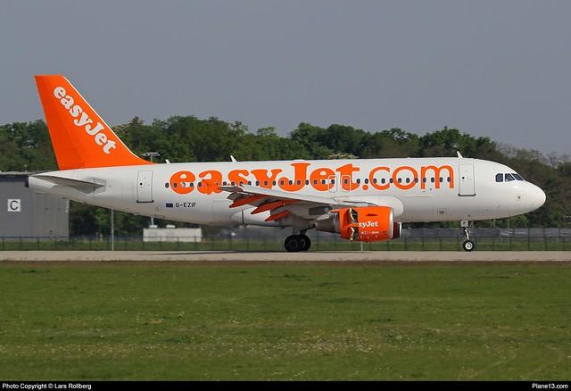 EasyJet, G-EZIF, Airbus A319-111, cn 2450