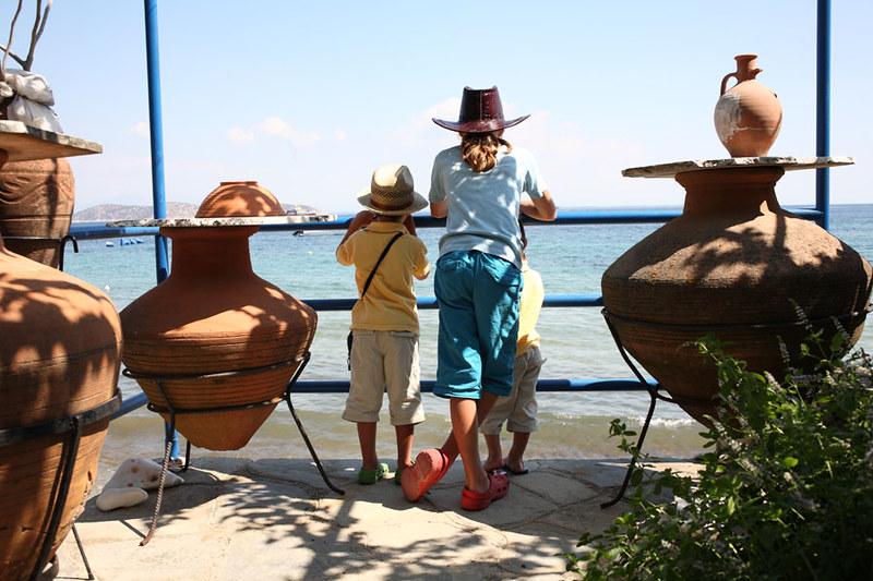 Thassos pottery view