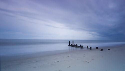 seascape landscape sea ocean beach shore coast sky clouds waves longexposure leebigstopper canon1022mmlens capemay jetty