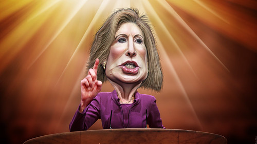 Carly Fiorina - Caricature | by DonkeyHotey