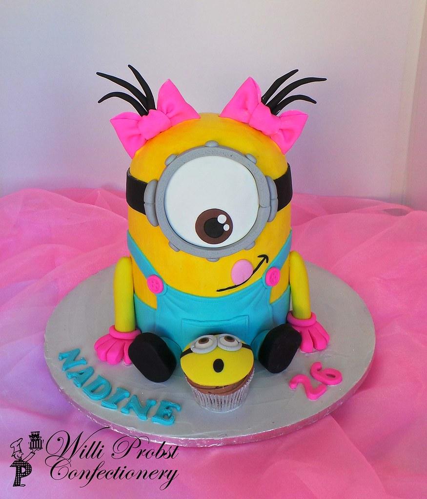 Sensational Girls Minion Birthday Cake Willi Probst Bakery Flickr Funny Birthday Cards Online Elaedamsfinfo