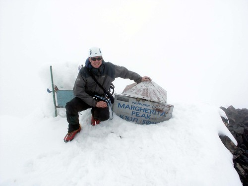 Christmas Day, 2006: me on the summit of Margherita Peak, Mt Stanley, the highest point in Uganda (5109m), and the 3rd highest mountain in Africa. | by markhorrell