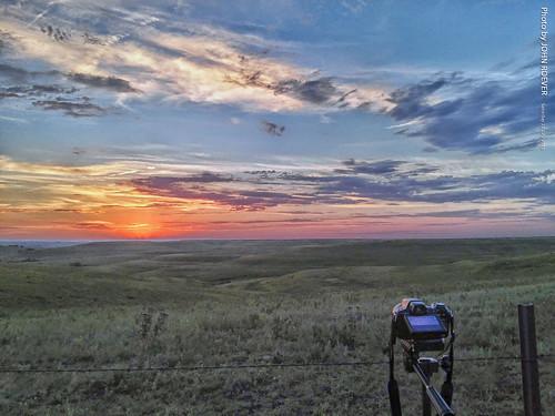 kansas flinthills camera wabaunseecounty usa setup landscape prairie sunset postsunset evening summer 2016 july july2016 colors colours sky