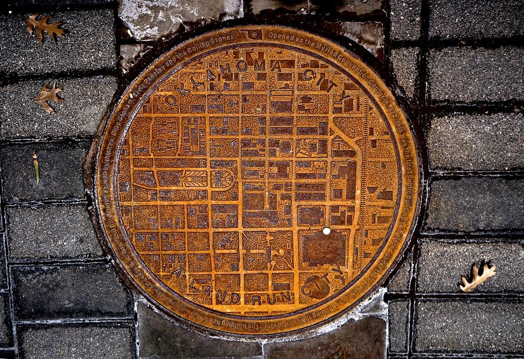 OKC map manhole cover