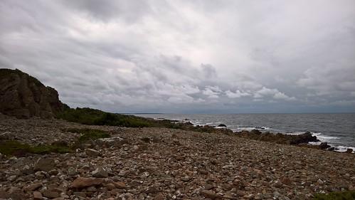 sea sky beach water clouds strand skåne rocks outdoor horizon himmel shore vatten hav kust hovshallar moln carlzeiss horisont klippor pureview lumia950