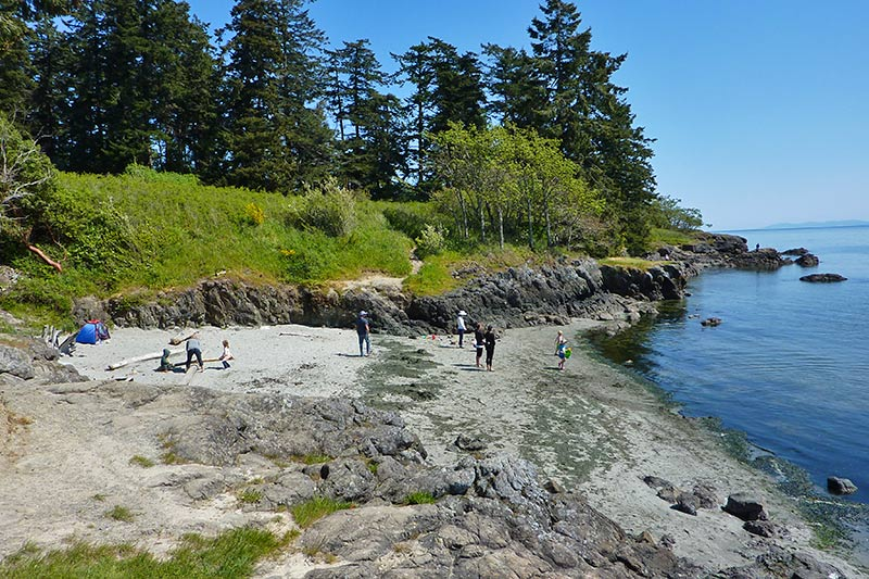 Tower Beach at Witty's Lagoon Park, Metchosin, Victoria, Vancouver Island, British Columbia