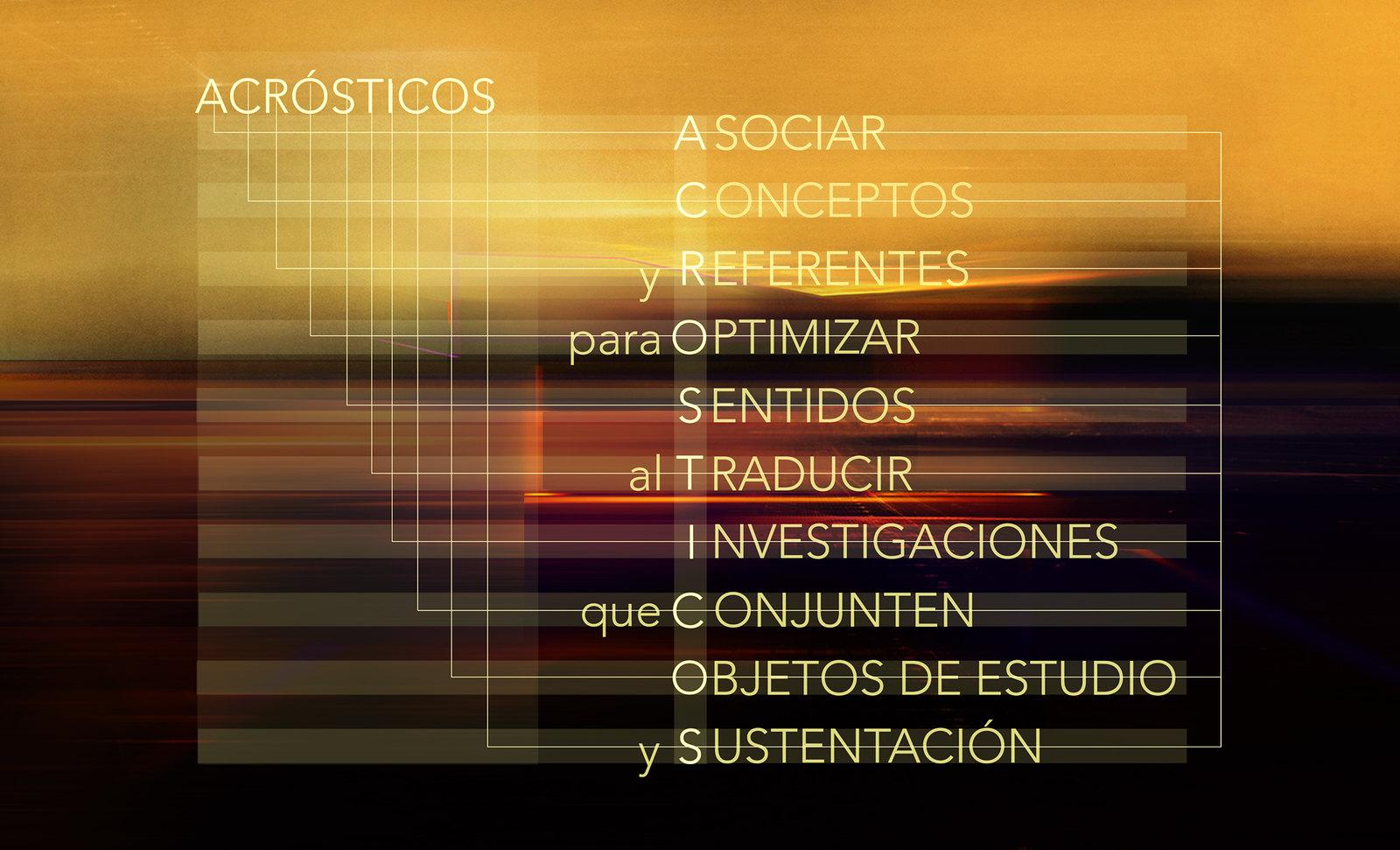 Acrósticos