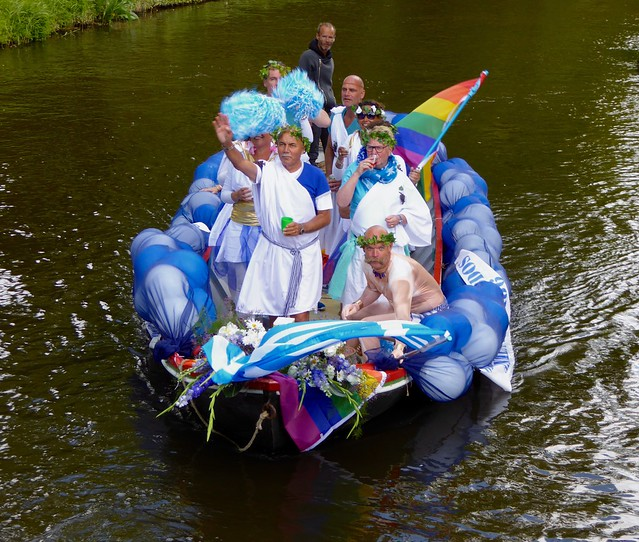 Alkmaarse Grachten Parade. Roze Week Alkmaar. 2015.