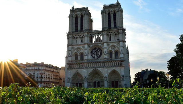 Notre Dame and sunrise