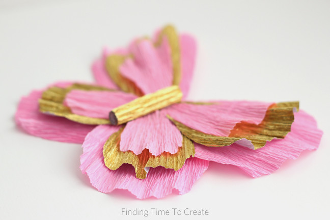 Italian Crepe Paper Butterfly Detail Tutorial On My Blog Flickr