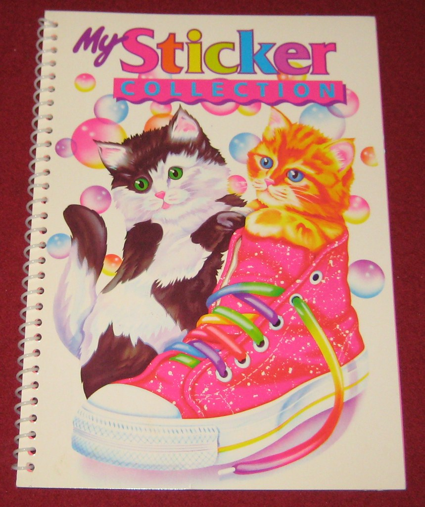 Lisa Frank My Sticker Collection Kittens In Shoe Items F Flickr