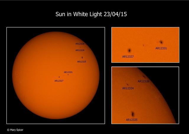 Sun in White Light 23/04/15 1:50pm BST