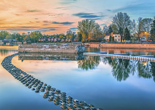 sunset lake canada westisland reflections canal spring quebec montreal pastel tires serene tyres sainteannedebellevue niksoftware colorefexpro4 photoshopcc