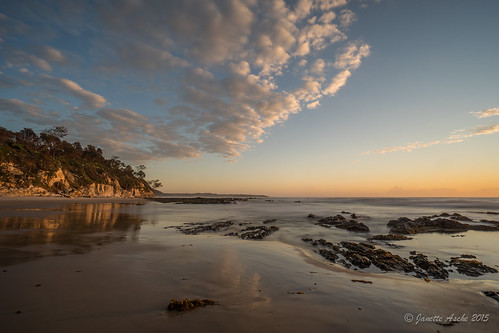 2015 australia diggerscamp nsw newsouthwales sonya7r yuraygirnationalpark beach clouds coast coastal ocean rocks sea sunrise waves