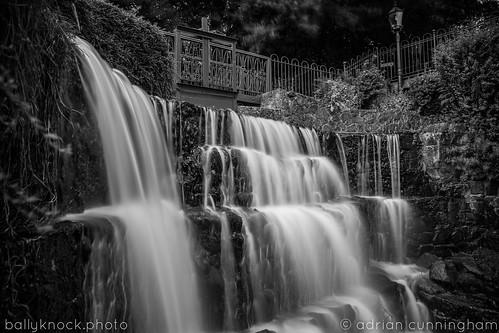 waterfall blackandwhite bridal bridge galgorm ireland wedding