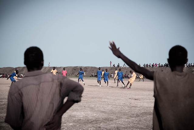 Close to three years of confined displacement has inevitably left deep psychological scars, especially for young people who find their best years frittering away. Many battle against such despondency by using their energies in productive ways, such as enjoying a game of football.