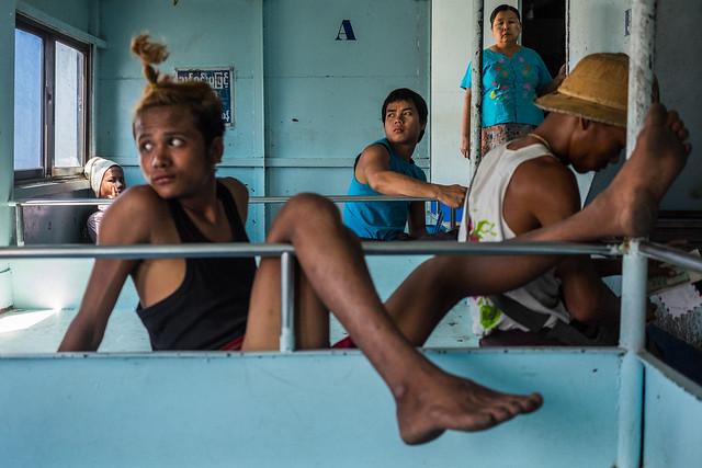 Waiting at the boat - Yangon, Myanmar