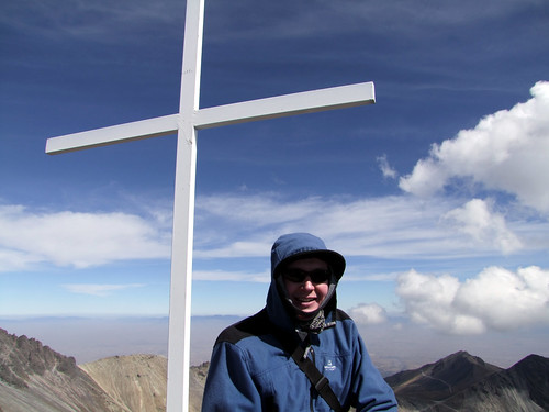 Me at Pico del Fraile (4691m), the main summit of Nevado de Toluca | by markhorrell