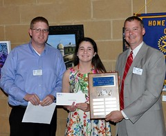 Ms. Alexandra Howland Hitson, a senior from Millbrook HS was awarded a $1000 college scholarship. The scholarship is in memory of Alex Wilson who was a member of North Raleigh Rotary.
