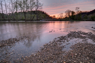 Sunset, Roaring River, The Boils WMA, Jackson County, Tennessee 1