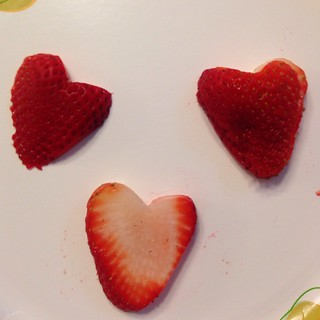 Strawberry Love Nothing says love then a heart shaped strawberry #fruit #chefbytrade1