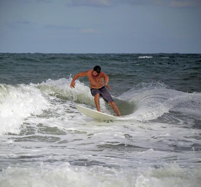 Surfing ortley beach NJ summer 2016