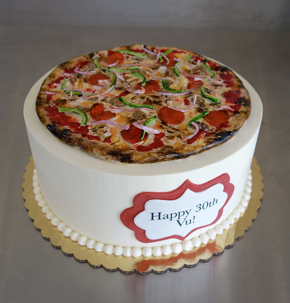 Awesome Pizza Supreme Birthday Cake Sasa Flickr Funny Birthday Cards Online Alyptdamsfinfo