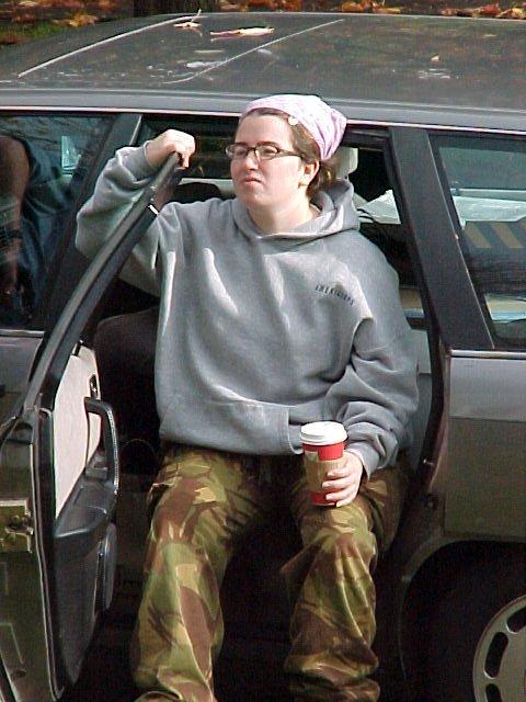 Annie in the car 2