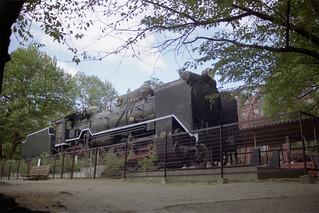 王子動物園のSL「D51 211」
