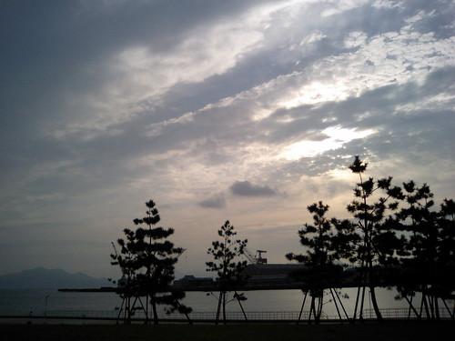 beginning of the sunset...