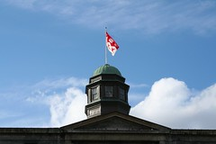 McGill's flag on the Arts Building
