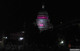 state house lit for breast cancer awareness month | by Jef Nickerson