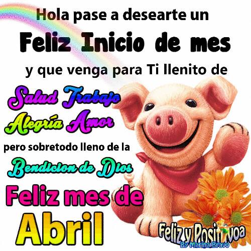 Hola Pasé A Desearte Un Feliz Mes De Abril Ifttt2ecd8w8 Flickr